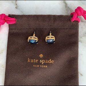 KATE SPADE sparkly blue stud earrings